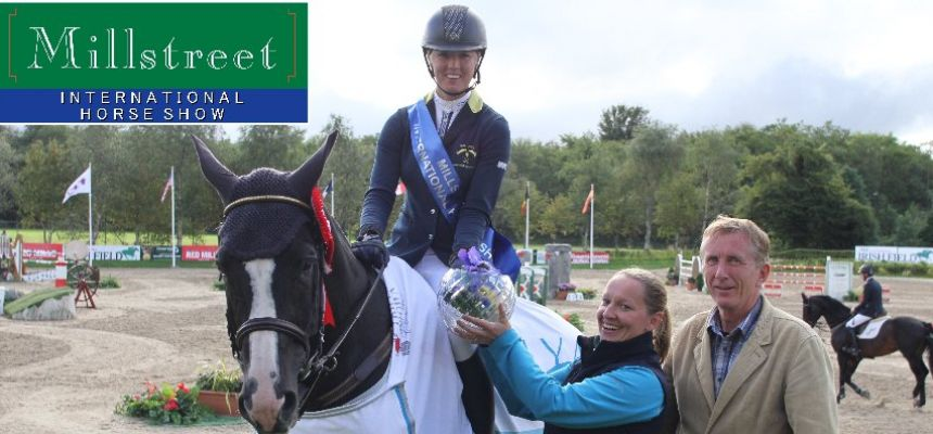 2013 Hyatt Hotels Millstreet International Grand Prix Champion - Ellen Whitaker (Zanzibar V)